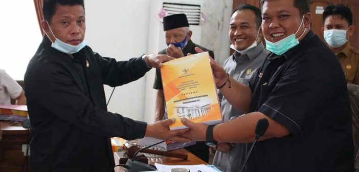 Berikut, Laporan Hasil Pembahasan Raperda APBD Kabupaten Kepahiang Tahun Anggaran 2021