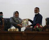 DPRD Kepahiang Gelar Sidang Penyampaian Bupati atas Raperda RP3KP kabupaten kepahiang tahun 2020 -2040.